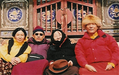 With my parents and cousin sister, Moktsa Rinpoche's daughter, in Five Peaks Mountain