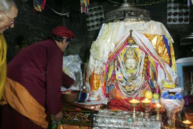 Garsha Phagpa, the holy statue of Avalokiteshvara