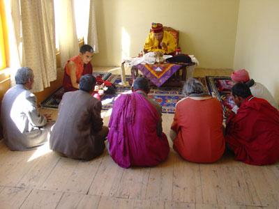 Meeting with members of Drukpa Kinnaur