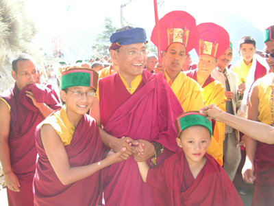 With Ga Lhakhang Rinpoche and Ga Rinpoche