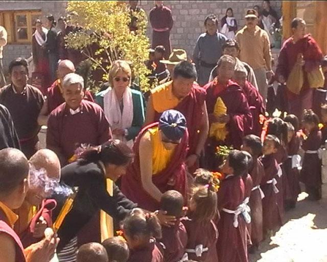 Visiting the children of Druk Padma Karpo Institute